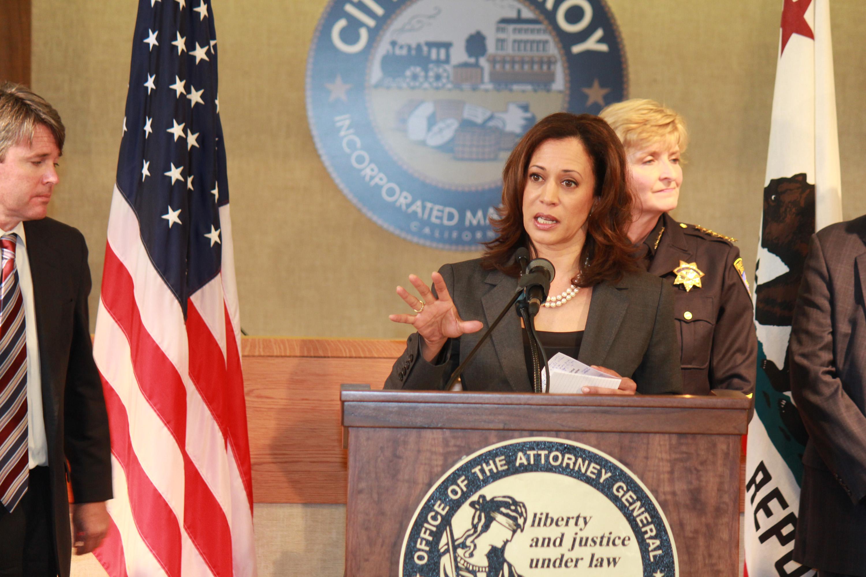 Senator Kamala Harris and the MORE act.